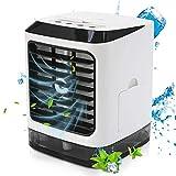 YWJ Mini Refroidisseur d'air, 4 en 1 Mini climatiseur portatif Multifonction, pour Bureau à Domicile
