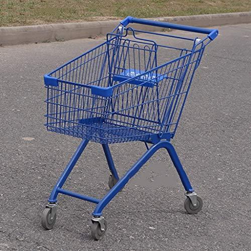 FPigSHS Trolley einkaufen KTV Cart Supermarkt Hotel Dollies Likör Wasser 80L Servicewagen Weinwagen Aufbewahrungswagen zum Hotel Restaurant Bar Küche (Color : Blue) (Restaurant, Cart)