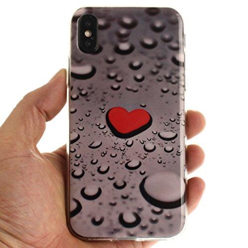 Cover iPhone X , YIGA Moda Formula Matematica Printing Disegno Personalità Morbido TPU Silicone Flessibile Gel Guscio Cover Protettiva Bumper Case Protezione Copertura Custodia per Apple iPhone X (5,8 TX4
