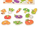 Puzzles aus Holz, magnetisch, magnetisch, Zeichenbrett, Lernspielzeug für Kinder ab 3 Jahren, Mehrfarbig