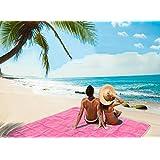 Manta de prueba de arena, arena Free Beach Mat, clavijas de tienda, impermeable Drawstring bolsa de suciedad y polvo desaparecen, rápido seco, fácil de limpiar perfecto para la playa, picnic, camping