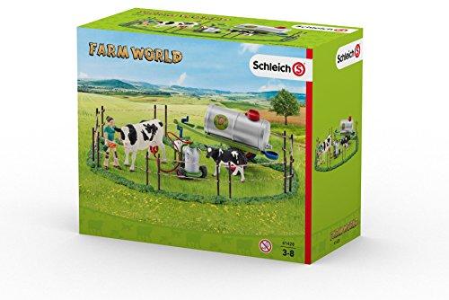 Schleich 41428 - Kuhfamilie auf der Weide, mehrfarbig