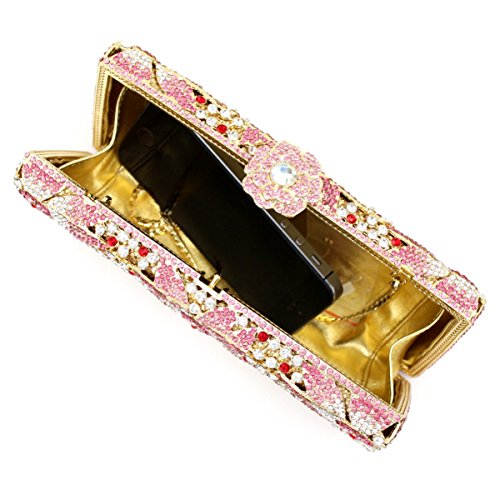 Pochette Da Donna Con Pochette Di Lusso In Metallo E Diamanti