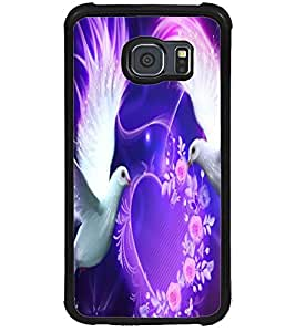 ColourCraft Lovely Pigeons Design Back Case Cover for SAMSUNG GALAXY S6