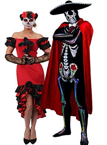 Ilovefancydress - costume da halloween per coppia, ideale anche per celebrare la festa messicana del