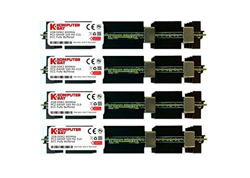Komputerbay Arbeitsspeicher RAM FB-DIMM mit Hitzeverteilern (DDR2, PC2–5300F, 667MHz, CL5ECC, 240-polig) 8GB (4X 2GB) Mac HS 800MHz