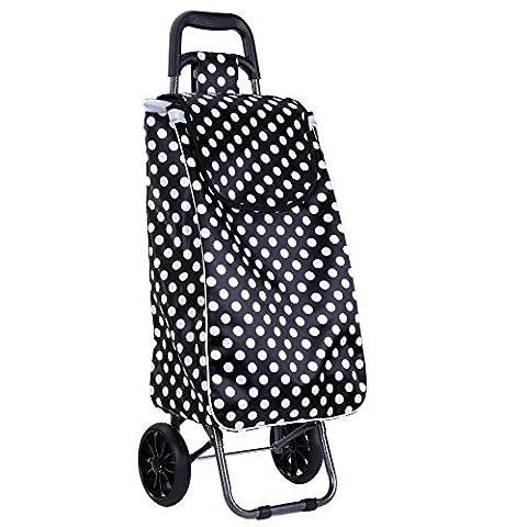 portable - warenkorb supermarkt - einkaufswagen kleinen karren gepäck wagen verdickte stahlrahmen lackiert mit solidem (Raso Bianco Vernice)