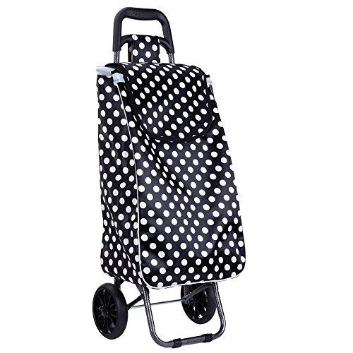 portable piegare carrello supermercato carrello piccoli carri bagaglio cart addensato telaio in acciaio dipinto di solida gomma ruota indossare impermeabile raso borse