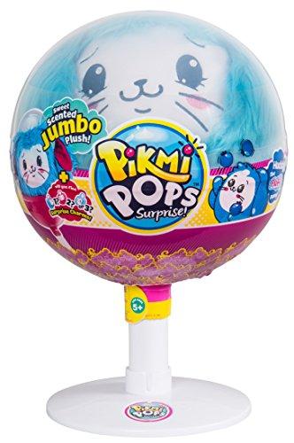Pikmi Pops 34791 Huddy Duftendes Plüschtier, im Lollipopbehälter mit Überraschungsanhänger und geheimnisvoller Nachricht, Blau, 20 cm