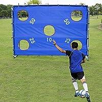 Pinty Porta da Calcio in Nylon ad Alta Resistenza e Tubi in Acciaio Rivestito in Polvere per Ragazzi Obiettivo di Calcio (8 'x 6')