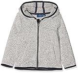 TOM TAILOR Unisex Baby Sweatshirt Jacke Gemustert 1/1 Hood, Weiß (Bright White 1000), 80