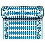 Unbekannt '24m x 40cm Camino de Mesa, Delgado, Airlaid Bayrisch Azul sobre Rollo, Lacado Mantel de Entramado Oktoberfest