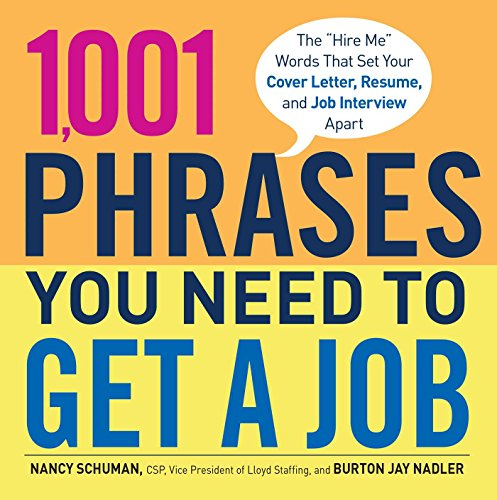 1001 Phrases You Need To Get A Job The Hire Me Words