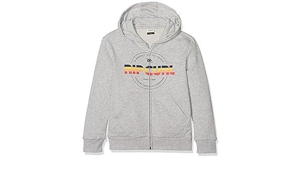 RIP CURL Childrens Mr Script Hooded Zip Fleece Sweatshirt