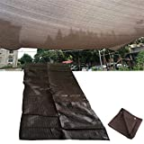 Sonnenschutznetz/Sonnensegel Blumen Schatten Tuch 90% Abdeckung Balkon Schattennetz(Brown) LZPQ