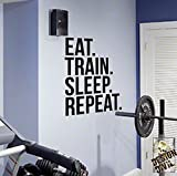 Best Motivational Wall Decals - EAT TRAIN SLEEP REPEAT Gym Wall Decal Motivational Review