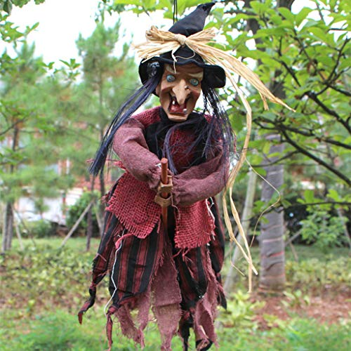 JIBO Control De Voz Bruja Little Ghost Halloween Props Haunted House Bar Discoteca Decoración Suministros Horror Fantasma Juguetes