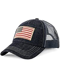 Polo Ralph Lauren Men's Trucker Mesh Cap (One Size, Indigo Denim (7001))