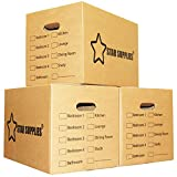 Best Moving Boxes - Mooveit Large cardboard boxes, Pack of 30 Review