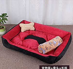 Dog House Pet Grand Chenil Nid de Chat Golden Retriever Chaud Four Seasons Pet Mat Fournitures pour Animaux