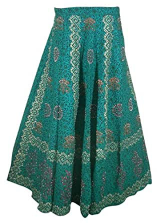 Cotton Skirt Designer Wraparound Gift for Women India Clothes