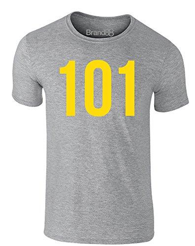 Brand88 - Vault 101, Erwachsene Gedrucktes T-Shirt Grau