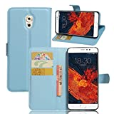 Tasche für Meizu Pro 6 Plus Hülle, Ycloud PU Ledertasche Flip Cover Wallet Case Handyhülle mit Stand Function Credit Card Slots Bookstyle Purse Design blau