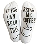 """Best Gifts Men Under 30s - Luxury Cotton """"Bring Me Coffee"""" Socks - Perfect Review"""