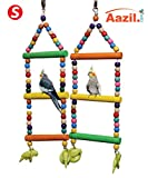 #9: AAZIL Colorful Natural Rope ladder Bird toy