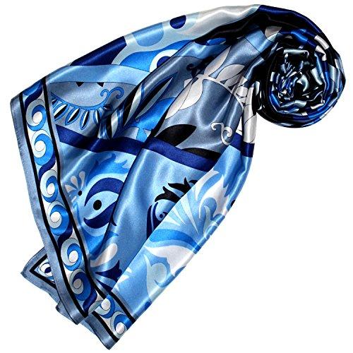 LORENZO CANA Luxus Seidentuch aufwändig bedruckt Tuch 100% Seide 90 x 90 cm harmonische Farben Damentuch Schaltuch 89156