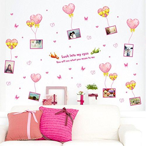 Liebe Ballon Foto Frame Schlafzimmer Wohnzimmer-Korridor Hintergrund Dekorative Wand Angebracht Umweltschutz-Wasserdichtes Wandpapier