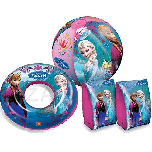 Disney Frozen Anna Elsa Schwimmen Set Schwimmflügel Swim Ring Beach Ball ideal für Kinder Geschenk (Disney Frozen Beach-ball)