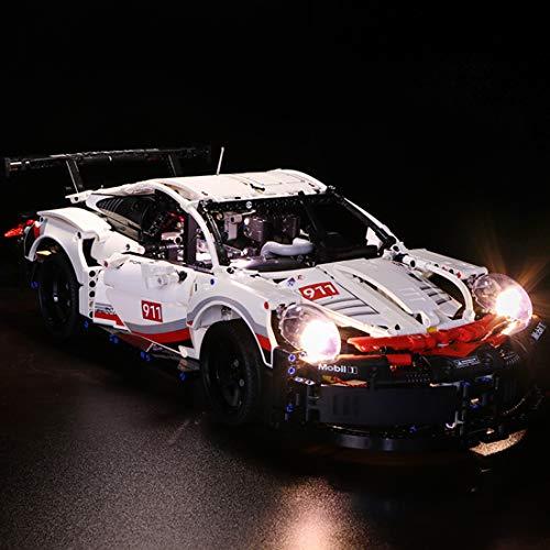 Poxl LED Licht-Set Für Porsche 911 RSR, LED Beleuchtung LED Light Kit Kompatibel Mit Lego 42096 - Lego Modell Nicht Enthalten