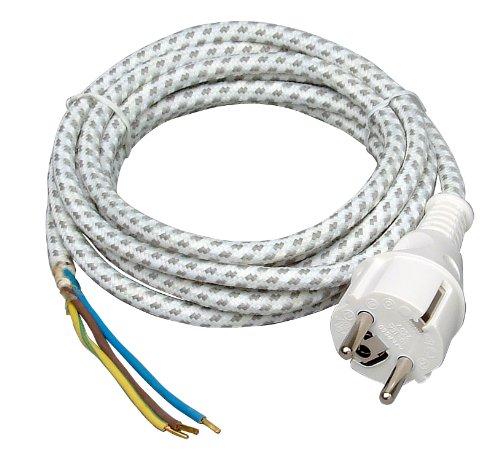 Preisvergleich Produktbild Kopp 140803091 Bügeleisen-Leitung, 3m, weiß/schwarz