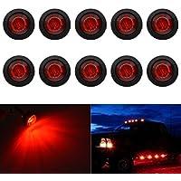 Luces indicadoras LED redondas y blancas con forma de bala, luces traseras para el coche (Paquete de 10 unidades), de la marca Tuincyn
