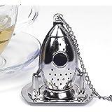 rivalty (TM) Rocket difusor de infusor de té de hojas sueltas colador filtro de especias de acero inoxidable caliente