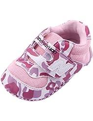 La vogue Zapatillas Deportivas para Bebé-niñas Velcro Rosa