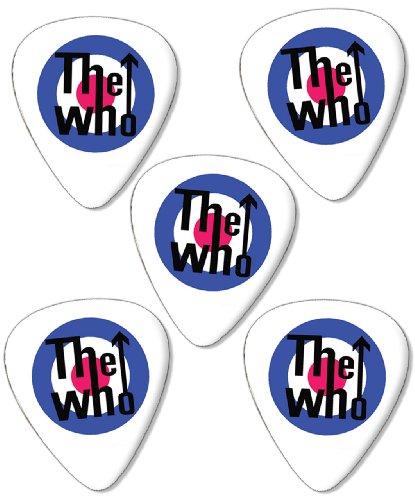 who-target-logo-premium-chitarra-picks-plettri-x-5