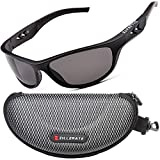ZILLERATE Polarised Sports Sunglasses for Men & Women, Driving Cycling Golf Fishing Running Sailing Skiing, UV400 Protection, Wrap Around Lightweight Durable TR90 Frame, Accessories With Hard Case