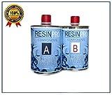Résine époxy Transparent - Resina transparente, 800g, bicomponente A+B, supertransparente, efecto agua, para joyas o moldes
