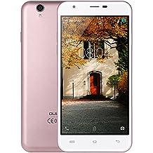 OUKITEL U7 MAX Smartphone Libre Barato 3G Android 6.0 IPS Pantalla 5.5 Pulgadas Dual SIM Quad Core 1.3GHz 8GB ROM 1GB RAM Dual Cámara 2MP + 8MP rosa