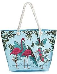 Tropical Flamingo Strandtaschen Strand Taschen Reisetaschen Baumwolle