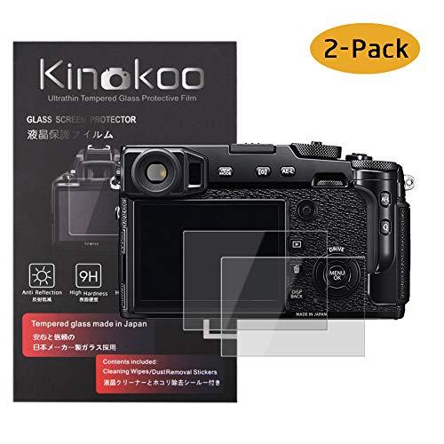 kinokoo Film de Verre trempé pour Fuji X-Pro2 Film de Protection d'écran Crystal Clear Fujifilm X-Pro2 sans Bulles/Anti-Rayures (Paquet de 2)