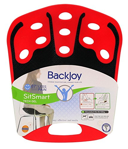BackJoy SitSmart Tech Gel-On-The-Go-Relief (Adult 50 - 125 Kg, Red/Black)  available at amazon for Rs.2999