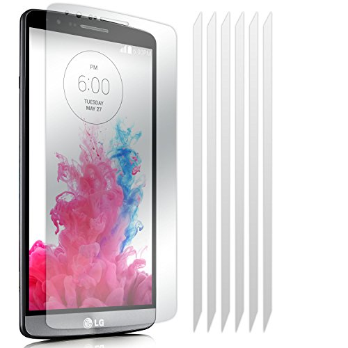 LG G3 6 Pack LCD Screen Protector Guards Mit Poliertuch von Fone-Case