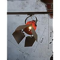 Semplice Ferro moderna industriale Vento Retro pista, a soffitto tipo di illuminazione Negozio di abbigliamento (Illuminazione Della Pista)