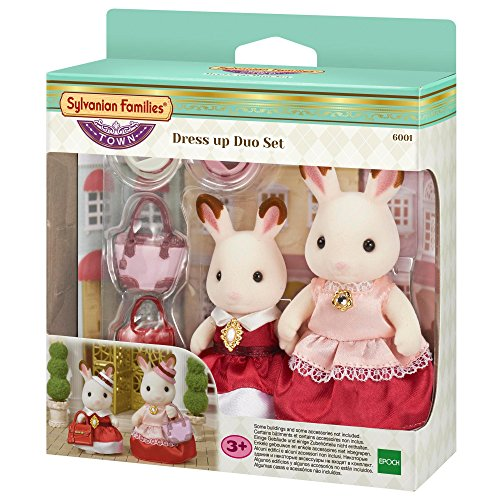 Sylvanian Families 6001 Schokoladenhasen Fashion Set (inkl. 2 Figuren), Mehrfarbig (Dress Up Duos)