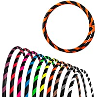 Hoopomania Plegable Principiantes aro, Unisex, Faltbarer Anfänger Hula Hoop Reifen, Naranja Fluorescente, 95 cm