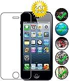 [2er Pack] Panzerglas für Apple iPhone 5 / 5S / 5C / SE gehärtetes Glas 9H, Echtglas Glasfolie Panzerglasfolie Panzerfolie Folie Displayschutz von Smartphone-Equipment