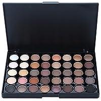 40 Colores Paleta de Sombra de Ojos Paleta de Maquillaje Mate y Brillo Polvo para las Cejas Cosmética Profesional Kit de Maquillaje #01